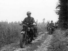 Despatch Riders of 15th Division on 25 June 1944