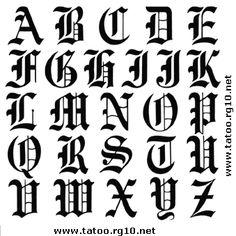 Alfabeto tattoo