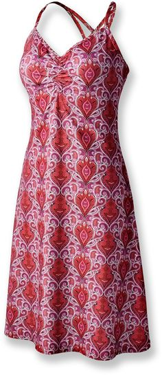 prAna Sonja Dress by REI $68 in burnt orange and paisley. Cute, comfy, and easy to care for.