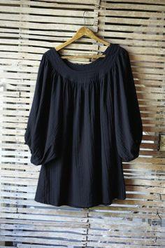 Demelza blouse - Navy - Plümo Ltd