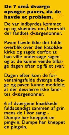 Hyggestedet.dk - Danmarks sjoveste hjemmeside. Joke Stories, Haha, Funny Pictures, Spas, Memes, Whisper, Words, Danish, Fun Stuff