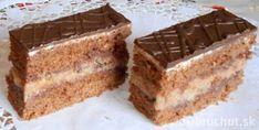 Fotorecept: Orechové rezy Slovak Recipes, Czech Recipes, Ethnic Recipes, Eastern European Recipes, Vanilla Cake, Nutella, Tiramisu, Banana Bread, Deserts