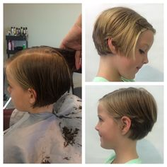 Child pixie hair cut girls pixie hairstyle cute short hair by Nicole Mesquit @mintsalonoc