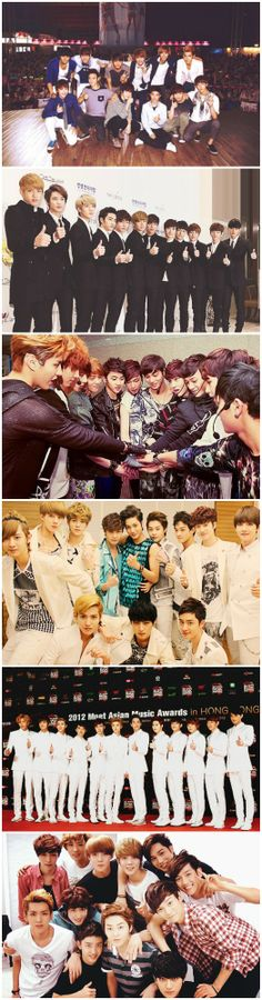EXO back in the day ~ my babies have grown so much! (´ ⌣ `ʃƪ) #exo #throwback