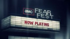 AMC FearFest 2013... CAN'T WAIT!!!  One of my favorite times of the year!!!