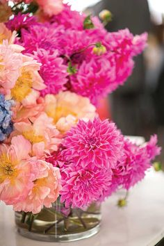 Bright pink #wedding #flowers by My Violet // Photography by Nadean