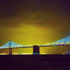 Blue and yellow like the Golden State Warriors! #baylights #SF #BayArea #SFLove #BayLove