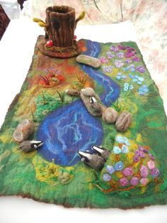 Large size Waldorf Play scape Play mat Play item with a by SooSun