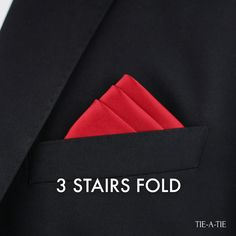 Classic and elegant way to wear your pocket square: With the Fold. Click image for detailed instructions. Pocket Square Folds, Pocket Square Guide, Pocket Square Styles, Men's Pocket Squares, Cool Tie Knots, Cool Ties, Pliage Pochette Costume, Gents Coat, Handkerchief Folding