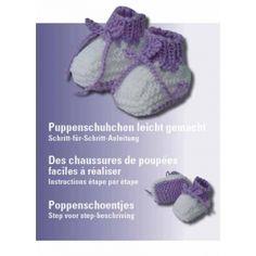 Schuhchen für puppen stricken - Anleitung