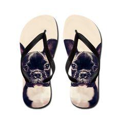 French Bulldog Flip Flops   #french #bulldog #flipflops #sandals #dog #gifts