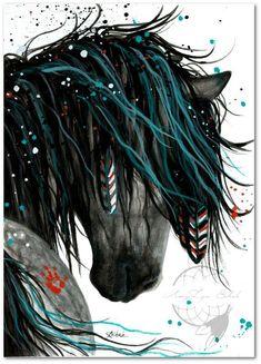 """Majestic Horse"" by AmyLyn Bihrle - Horses - Pferde Horse Artwork, Horse Wall Art, Majestic Horse, Beautiful Horses, Indian Horse Tattoo, Cross Paintings, Art Paintings, Original Paintings, Pastel Paintings"