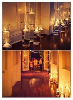 Floating Water Candles, love the way these candles light the space, beautiful for weddings. any indirect light is awesome, twinkle lights or candles the more the merrier. Wedding Bells, Wedding Events, Our Wedding, Dream Wedding, Weddings, Wedding Pins, Decor Wedding, Garden Wedding, Wedding Ceremony