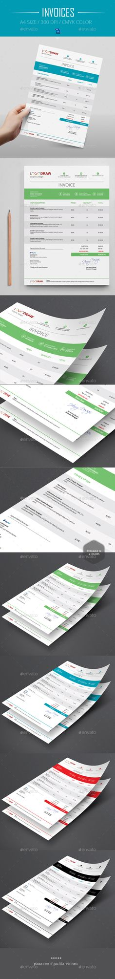 Invoices Template PSD #design Download: http://graphicriver.net/item/invoices/14076075?ref=ksioks
