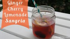 Are there to many choices from the Sangria Chart? Glue & Glitter make the choice easy with their Friday Cocktail- White Ginger Cherry Lemonade Sangria! #berndescw #sangria #summerfun