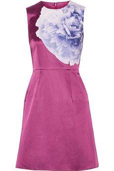 Jonathan Saunders Teresa floral-print satin dress   NET-A-PORTER