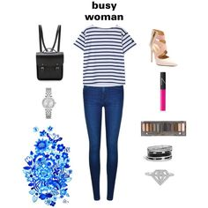 That busy day. by shaked14 on Polyvore featuring polyvore fashion style Calvin Klein The Cambridge Satchel Company Michael Kors GUESS Urban Decay NARS Cosmetics