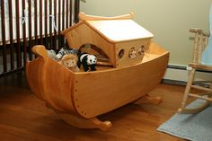 """My First Fine Woodworking Project(2006)- A cradle/toybox """"Noah's Ark"""" - by spud72 @ LumberJocks.com ~ woodworking community"""