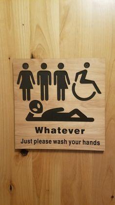 Bathroom Humor, Bathroom Signs, Bathroom Art, Neutral Bathroom, Bathroom Inspo, Bathroom Ideas, Diy Signs, Funny Signs, Restaurant Bathroom