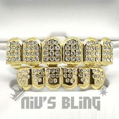 This iced out grillz set is made from high quality jeweler's brass and plated with premium gold plating. Our grillz are easy to use and safe to wear inside your mouth. Instructions: First, adjust the grill mouthpiece to the shape of your mouth. Iced Out Grillz, Diamond Grillz, Grills Teeth, Hip Hop Bling, Jewlery, Plating, Gold, Sexy Ass, Tooth