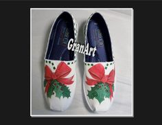 Christmas BOBS Canvas Shoes Christmas Shoes Painted by GranArt