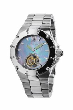 """Android Men's AD636BS Divemaster Enforcer 45 Automatic Tourbillon Watch Android. $1249.00. Crystal: Sapphire. Water-resistant to 200 M (660 feet). Seagull Ty-802 Automatic Flying Tourbillon movement with 27 jewels. Divemaster Enforcer 45 Automatic Tourbillon. Bracelet Measurements: 8"""" L x 27mm W. Save 75%!"""
