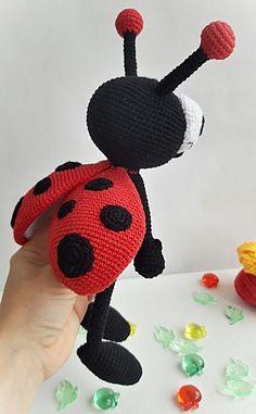 Crochet Ladybug Crochet toy Ladybug Cute Ladybug Present Crochet Ladybug, Crochet Bee, Crochet Toys, Easy Crochet Animals, Lady Bug, Miniature Dolls, Handmade Toys, Gifts For Girls, Crochet Flowers