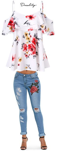 Buy the latest Blouses and Jeans for women at cheap prices,best Tops and Jeans at Dresslily.com.#blouses#jeans