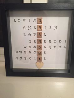 Special Scrabble Grandma Frame Caring Words by MakeItExtraSpecial