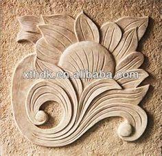 Sandstone Relief Carving DesignsSimple FlowersStone