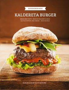 Keith's Kaldereta Burger with Melted Keso de Bola: Filipino Comfort in a Bun | Pepper.ph
