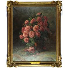 Bouquet of Roses of Madame Edouard Herriot, 20th Century, oil on canvas