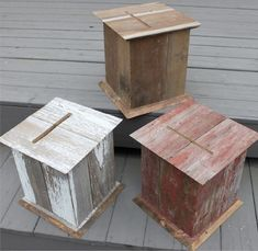 Rustic boxes from The Perfect Cardbox