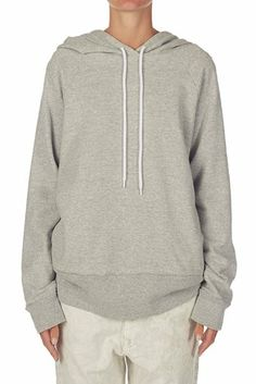 fleece hooded sweat grey marl | bassike