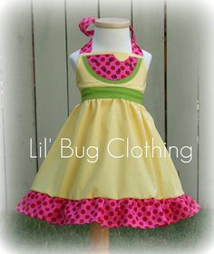 Custom Boutique Clothing Watermelon Yellow and by LilBugsClothing, $39.99