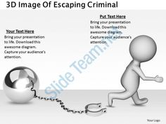 1813 3d image of escaping criminal ppt graphics icons powerpoint Slide01