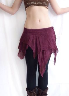 Asymmetrical fairy skirt