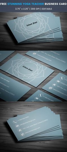 Yoga Teacher Business Card - Full Preview