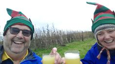 Christmas hike with Heidi yesterday, complete with hats crackers mulled wine and bucks fizz☺