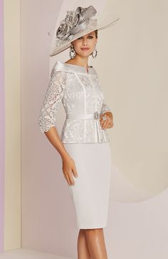 Veni Infantino 991437 Mother of Bride Outfit - Colour Silver & Ivory - Price Buy online today with next day delivery - money-back guarantee. mother of the bride outfit Veni Infantino 991437 Silver & Ivory Mother's Outfit - Sale price Mother Of The Bride Fashion, Mother Of The Bride Suits, Mother Of Bride Outfits, Mother Of Groom Dresses, Mothers Dresses, Mob Dresses, Fashion Dresses, Wedding Dresses, Wedding Outfits