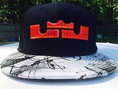 new concept cf3c2 54fd4 Brand New With Tags Nike Lebron XI Graffiti Strapback Hat