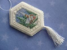 Padded Cross Stitch Ornaments Tutorial
