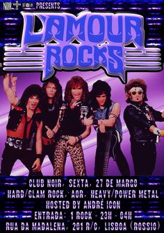 Sexta 27 de Março  Hard/Glam Rock, AOR, Heavy/Power Metal  Hosts: André Icon Evento: https://www.facebook.com/events/1396551233991927/ Entrada 1 Euro Aberto das 23h às 4h