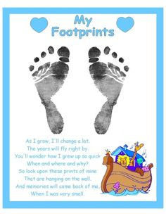 Baby Fathers Day Gift, Diy Birthday Gifts For Mom, Happy Fathers Day Daddy, Fathers Day Poems, Fathers Day Crafts, Footprints Poem, Pet Poems, Baby Girl Scrapbook, Fun Activities For Kids