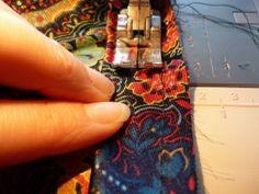 close-up of binding stitching