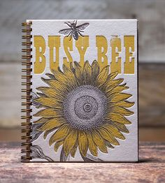 Busy Bee Notebook | Gifts Cards & Stationery | Bison Bookbinding & Letterpress | Scoutmob Shoppe | Product Detail