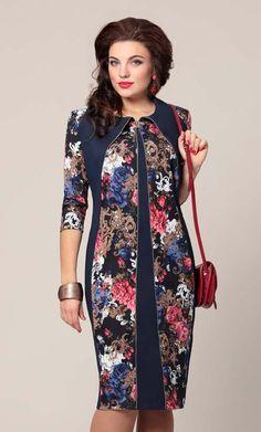 Платья для полных модниц белорусской компании Vittoria Queen. Осень-зима 2015-2016