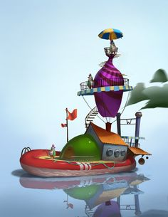 Charlie and the Chocolate Factory - Steamboat by KangJason on DeviantArt