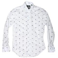 Gitman Vintage, Seaguls and Sailboats Club COllar shirt.