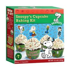 Brand Castle - Peanuts Snoopy's Cupcake Baking Kit, Multi-colored